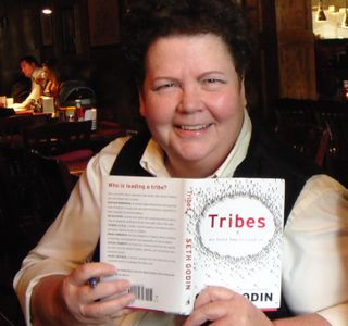 Becky with Tribes book
