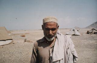 Afghan man - Peshawar desert camp